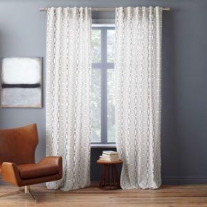 West Elm cotton canvas diamond stripe curtains